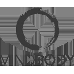Mindbody logo in MOK Capital Advisors grey palette