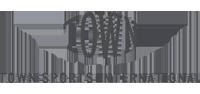 Town Sports International logo in MOK Capital Advisors grey palette