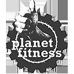 Planet Fitness logo in MOK Capital Advisors grey palette